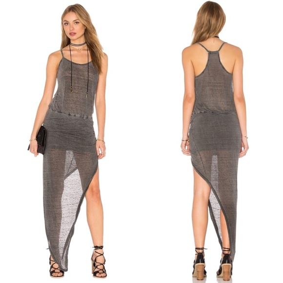 8ef4a112c4cda Pam & Gela Dresses | Pam Gela Ruched Asymmetric Sheer Tank Dress ...